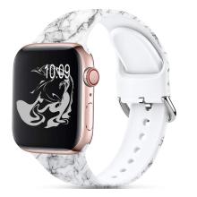 Bracelet de montre Apple Watch avec motif sans fadet imprimé en silicone