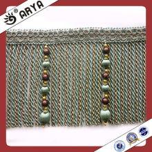 Perles longues et baguettes à rayures en caoutchouc, Décorations en rideaux, Décorations en dentelle en rideaux pour rideaux et canapé