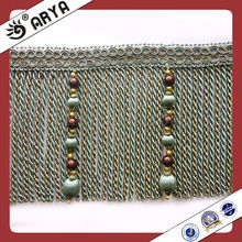 Long Beads and Bullion Curtain Tassel Fringe,Trims for Curtain Decoration,Curtain Lace Trimmings for Drapes and sofa