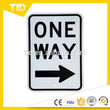 "Legend ""ONE WAY (right arrow)"", 12"" Width x 18"" Height, Black on White"