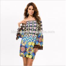 2017 Haute Qualité Summer Print robe Dames Décontracté Robes