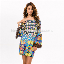 2017 High Quality Summer Print dress Ladies Casual Dresses