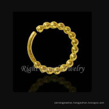 Gold Plated Indian Nose Piercing Jewelry Hoop Nose Rings