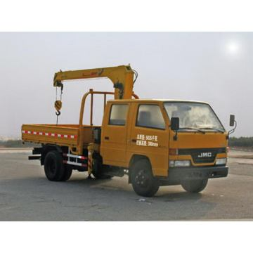 JMC Double Cabin Truck With Loading Crane