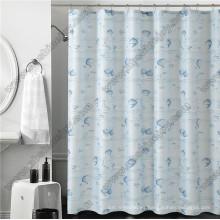 Cortina de ducha impermeable del PVC con los ganchos