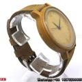 Qualidade superior Carbonized Bamboo Watch Quartz Watch Hl18
