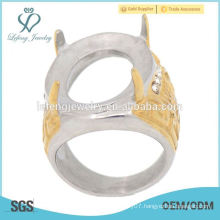 Indonesia hot sell and high quality gold men's engagement rings for natural sapphire