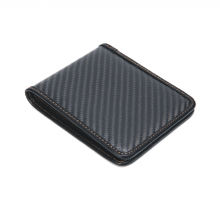 New Fashion Design for Carbon Fiber Handbag Carbon Fiber Bifold Wallet Durable RFID Blocking export to Indonesia Wholesale