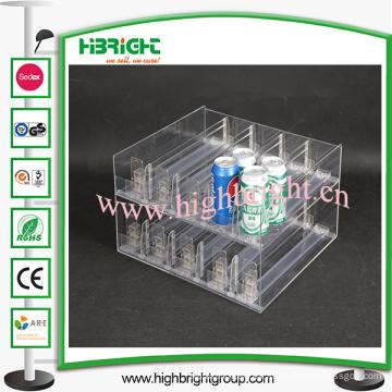Empujador de estante plástico para supermercado y tienda