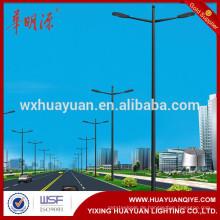 HDG Pulverbeschichtung Stahl Quadrat Licht Pole