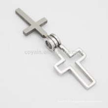 Wholesale Unique Mens Metal Double Cross Pendant