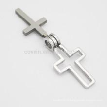 Оптовый Уникальный Мужская Металлическая Двойная Подвеска Креста