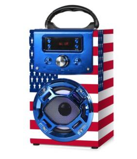 Color Paper Design Wooden Karaoke Speaker