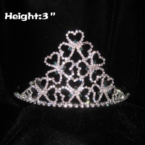 3inch Shamrock Crystal Pageant Crowns