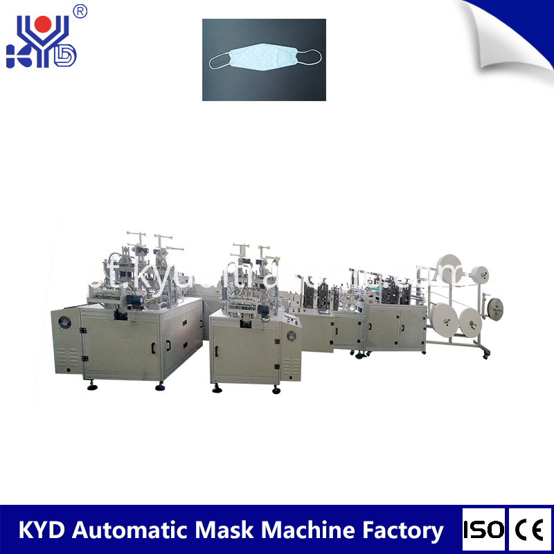 Autoamtic Non Woven Fish Type Mask Machine