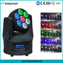 Endless Roating 7*15W RGBW LED Moving Head Professional Disco Lighting