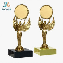 Top Sell Alloy Casting Gold 16cm Custom Nika Trophy for Promotion