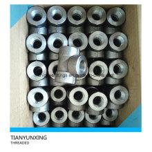 Hochdruck-geschmiedetes Kohlenstoff-Stahl-Gewinde-T-Stück Gewinde-Beschläge