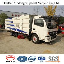 6cbm Dongfeng Euro 4 Vakuumsaug-Straßen-Kehrmaschine, die LKW wäscht