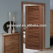 Natural veneer black walnut bedroom flush door