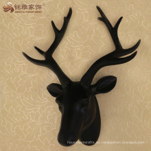 Cabeza de ciervos animales de resina decorativa moderna cabeza estatua para decoración de pared de la habitación