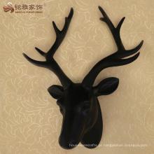 Os cervos animais de resina decorativos modernos dirigem a estátua para a decoração da parede