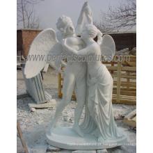 Estátua de pedra mármore escultura escultura anjo para decoração de jardim (sy-x1350)