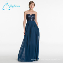 Chiffon Sashes Sequined Dark Blue Bridesmaid Dresses