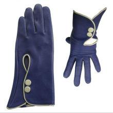 unique design navy blue trend ladies fashion gloves