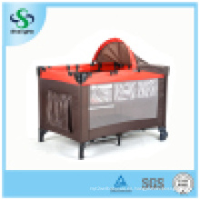 Moda de aluminio simple cómoda cama del juego del bebé (SH-A9)