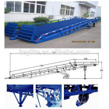 hot dipped galvanized hydraulic steel car forklift ramp hydraulic truck ramp one