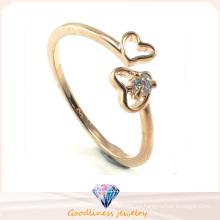 Joyería de plata del anillo 925 del diseño del corazón de la manera de la venta caliente de la mujer (R10259)