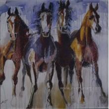 Handmade Oil on Canvas Paintings of Wild Horses Home Decoration (EAN-377)