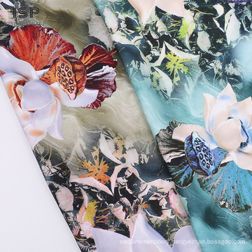 Rayon Stain Woven Digital Printed Dyed Fabric