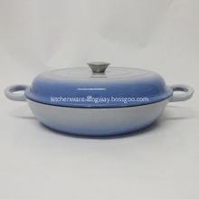 Round Blue Enamel Cast Iron Casserole Pot/Cooking Pot
