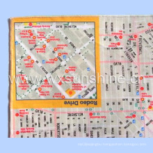 Ski Map Printing Microfiber Cleaning Cloth for Goggle (SF-006)