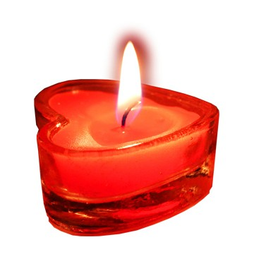 heart shape long burning tealight candles