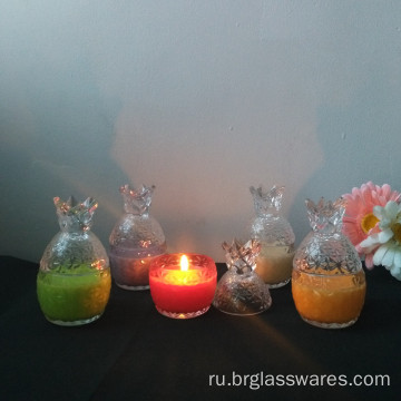 Mini Pineapple Shape Glass Candle Jar