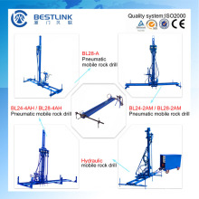 Quarry Stone Horizontal and Vertical Drilling Pneumatic Mobile Rock Drill