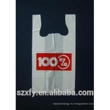 Bolsa de plástico de compras baratos / bolsas de plástico baratos de la camiseta