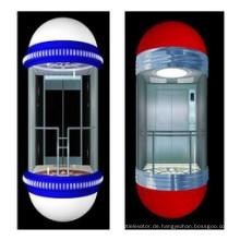 Sicherer 1350kg Glaspanoramischer Aufzug