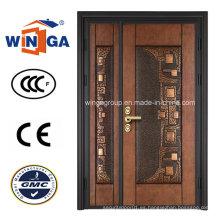 Puerta de cobre clásica del hierro del metal de la seguridad de la puerta (W-STZ-05)