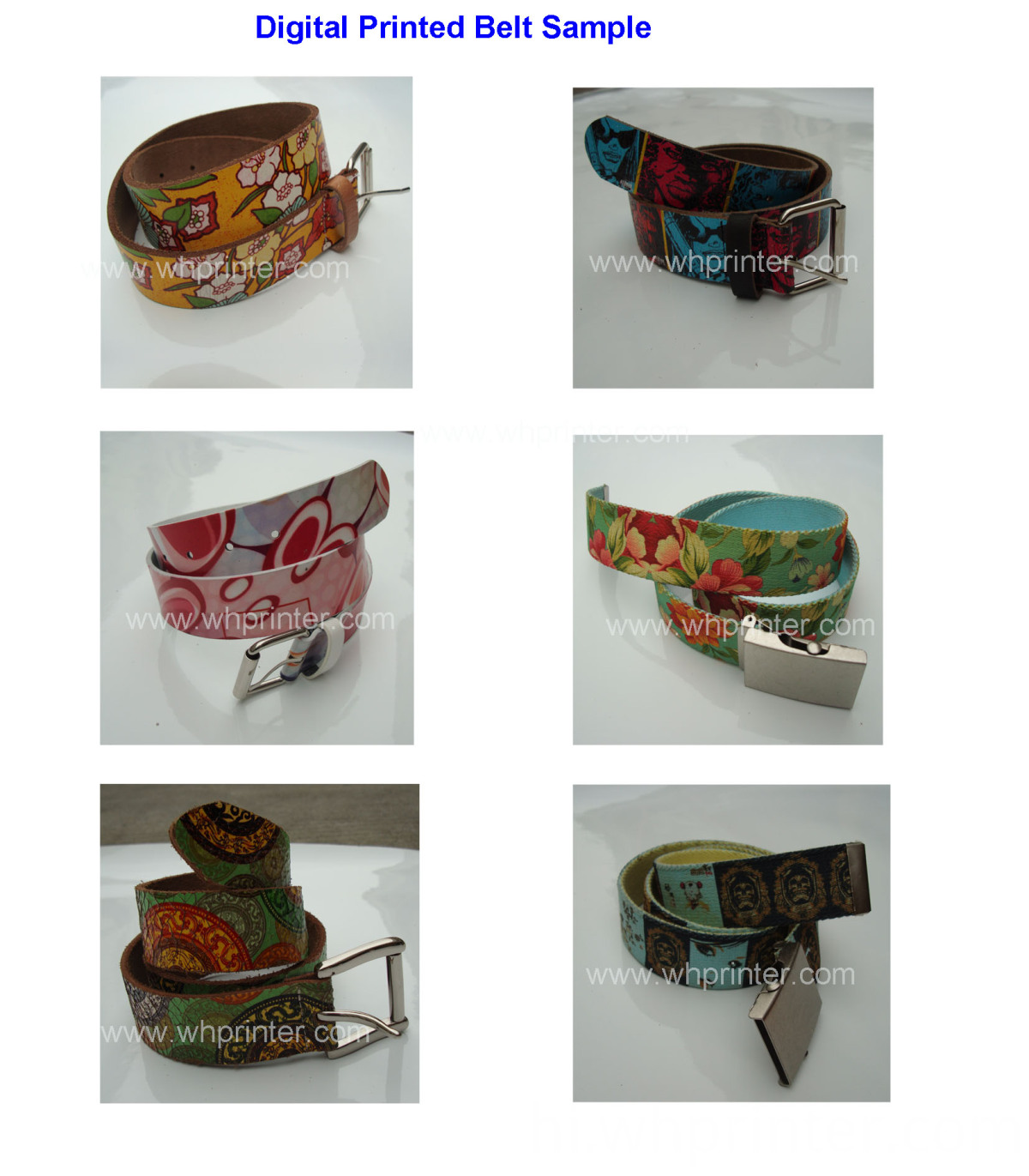digital printed belt