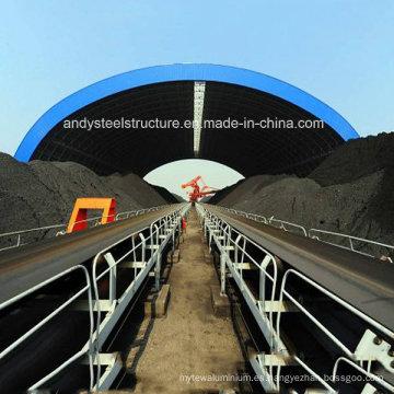 Refugio de carbón prefabricado con estructura de estructura espacial