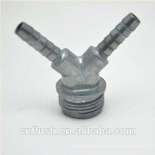 Zinc Y mixer washining machine hose coupling barb type