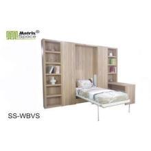 Kids Single MDF Panel Modern Wall Bed , fold up wall mounte