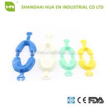 Bac d'impression en mousse de fluorure vert bleu disponible à usage médical certifié CE pour usage dentaire