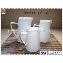 """5.5 """"6.5"""" 7.5 """"Pot de lait en céramique blanc de taille différente"""