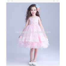 2016 korea lace bubble girl wedding party dress colorful layered baby girl summer dress