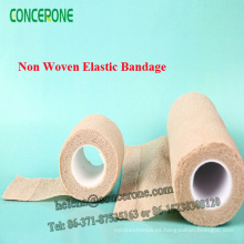 Vendaje elástico autoadhesivo no tejido / vendaje no elástico del algodón
